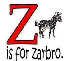 Funny Alphabet: Z is for Zebra Photographic Print