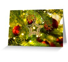 Bauble Ornament in a real Christmas tree  Greeting Card