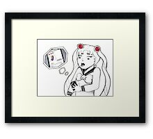 Unwanted Attention Framed Print