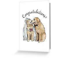 Dog Wedding Card Greeting Card
