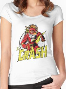 THE CRASH Women's Fitted Scoop T-Shirt
