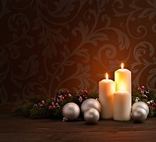 Advent Christmas wreath by 3523studio