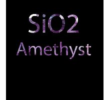 SU: Amethyst Chemical Formula Photographic Print