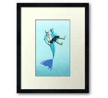 The Little Merman Framed Print