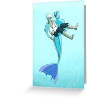 The Little Merman Greeting Card