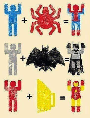 Spider + Man, Bat + Man, Iron + Man by StokieOaty