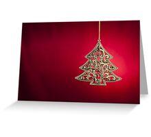 Christmas tree ornament  Greeting Card