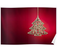 Christmas tree ornament  Poster