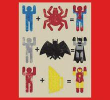 Spider + Man, Bat + Man, Iron + Man Kids Clothes