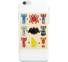Spider + Man, Bat + Man, Iron + Man iPhone Case/Skin