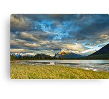 Sunset above Vermilion Lakes Canvas Print