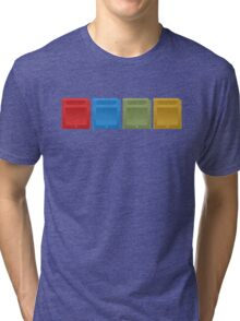 Pokemon Gameboy Cartridges. Tri-blend T-Shirt