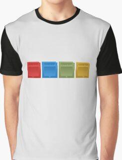 Pokemon Gameboy Cartridges. Graphic T-Shirt