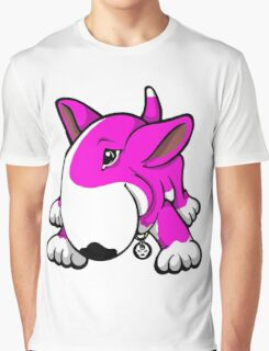 Let's Play English Bull Terrier Pink  Graphic T-Shirt