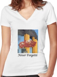 Never Forgetti Women's Fitted V-Neck T-Shirt