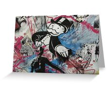graffiti - Monopoly man Greeting Card