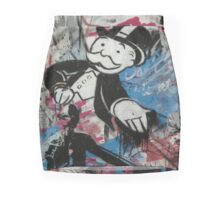 graffiti - Monopoly man Mini Skirt
