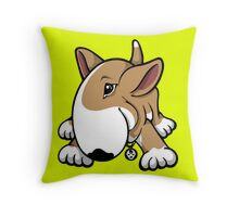 Let's Play English Bull Terrier  Throw Pillow
