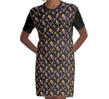 Swirly Popsicle Graphic T-Shirt Dress