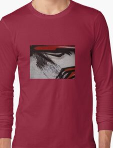 dragon lines and splatter diptych Long Sleeve T-Shirt