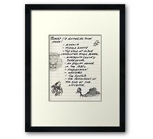 Oh, the Places I'd Rather Be Framed Print