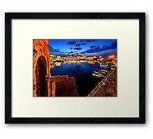The old Venetian port of Rethymno - Crete Framed Print
