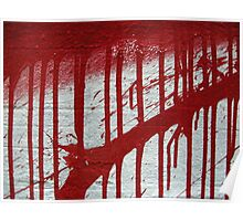 street art: blood splatter Poster