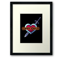 Legend of Zelda - Game Over Framed Print