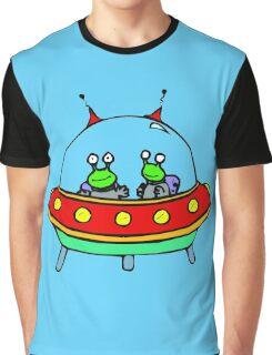 Alien - UFO - Flying Saucer Graphic T-Shirt