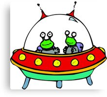 Alien - UFO - Flying Saucer Canvas Print
