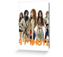 4 MINUTE Greeting Card