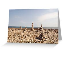Holy Island Mini Structures Greeting Card