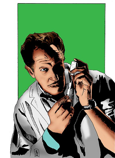 Vincent Price - The Tingler Print by kreepykustomz