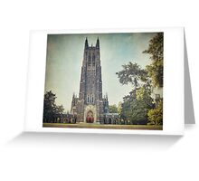 Autumn at Duke Chapel Greeting Card