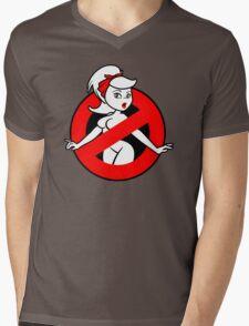 GB-Girl PinUp 2 (Red) Mens V-Neck T-Shirt