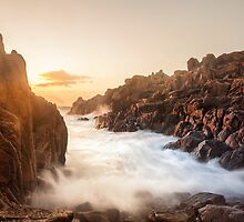 Sunset at Vazon, Guernsey by fiorephoto