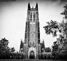 Duke University Chapel in Black and White by Kadwell