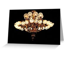Saloon Chandelier Greeting Card