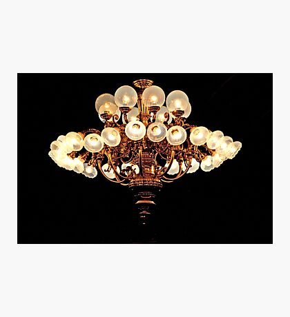 Saloon Chandelier Photographic Print