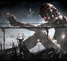 Cyberpunk Painting 026 by Ian Sokoliwski