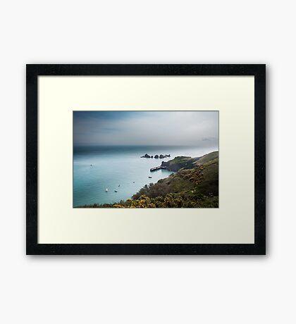 Sark Landscape - Visitors Harbour Framed Print