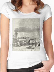 Union Pacific Railroad Station Women's Fitted Scoop T-Shirt