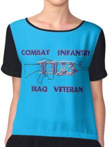 11Bravo - Combat Infantry - Iraq Veteran Chiffon Top
