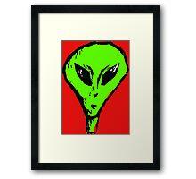Alien Head Framed Print