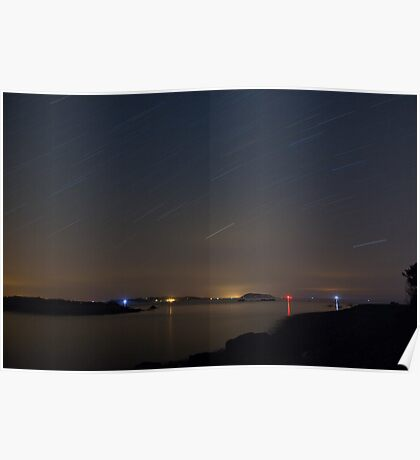 Channel Island Landscape Stars Poster