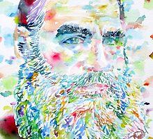 LEO TOLSTOY - watercolor portrait.2 by lautir