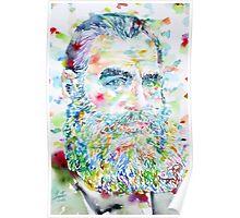 LEO TOLSTOY - watercolor portrait.2 Poster