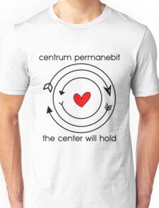 Centrum permanebit / The center will hold Unisex T-Shirt