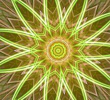 Fractal Flower-Yellow / Earthtones -geometric art Sticker