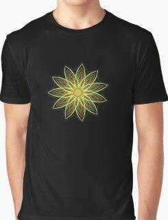 Fractal Flower-Yellow / Earthtones -geometric art Graphic T-Shirt